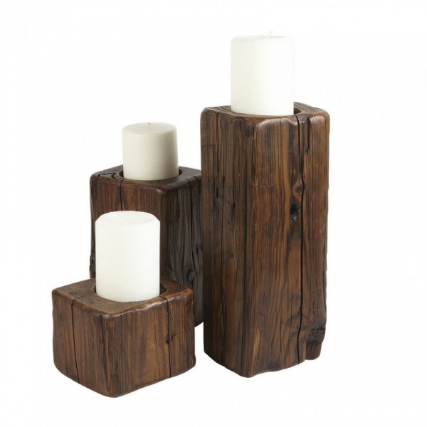 Candle Holders, Set of 3