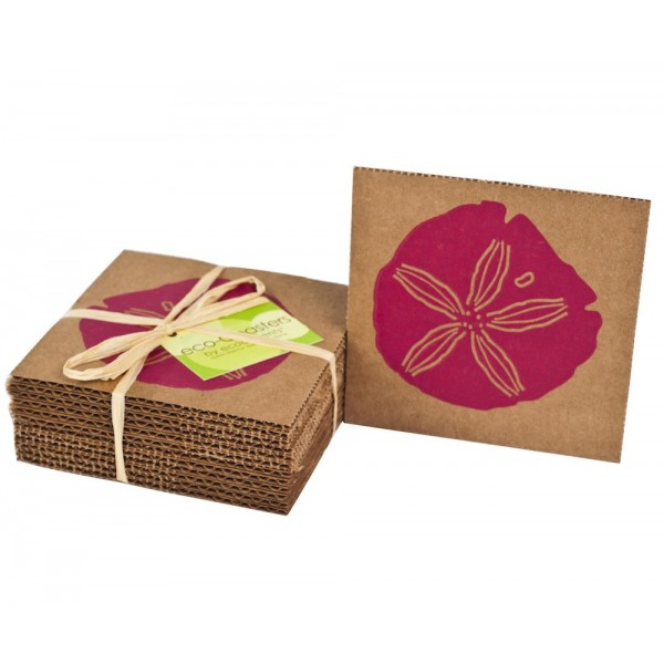 Pink Sand Dollar Eco-Coaster - Set Of 12