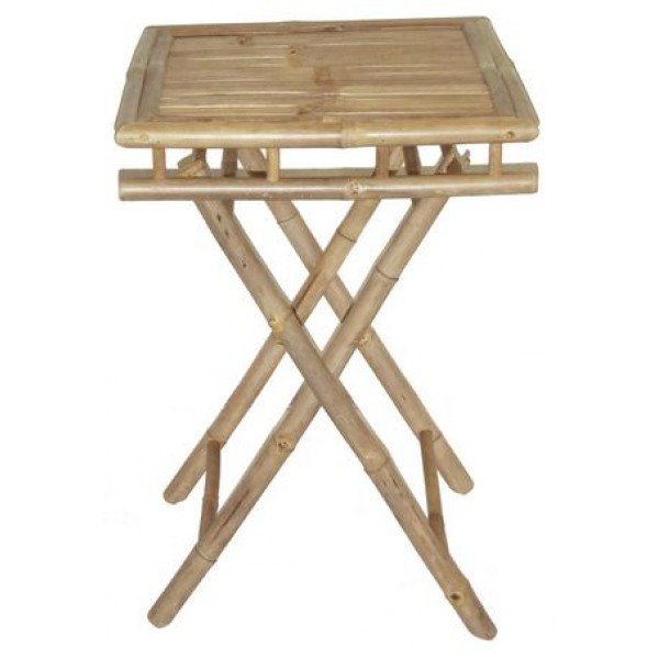 Small Folding Table : Bamboo Folding Table Small Square